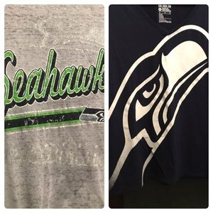 Two Seahawks Football Logo Women's Shirts Go Hawks